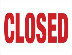 Closed (Item# P26CLO)