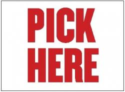 Pick Here (Item# P26PICK)